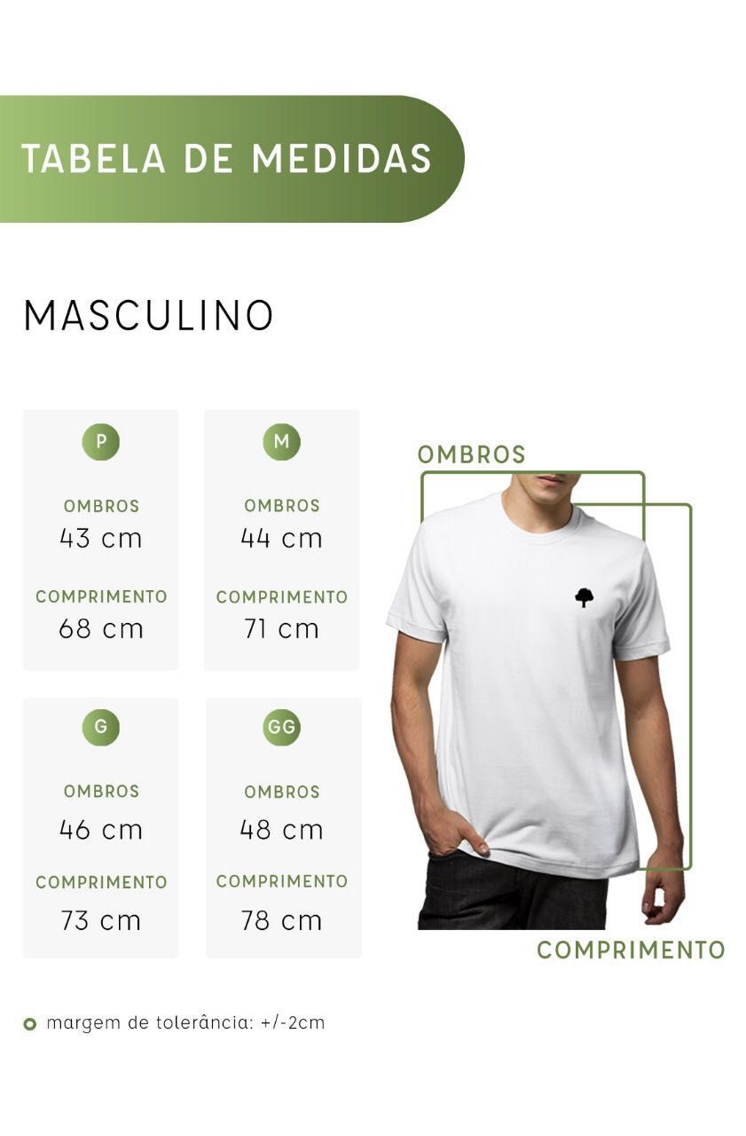 Camiseta Amazônia Garrafa Pet Escrito Folhas - Verde Escuro