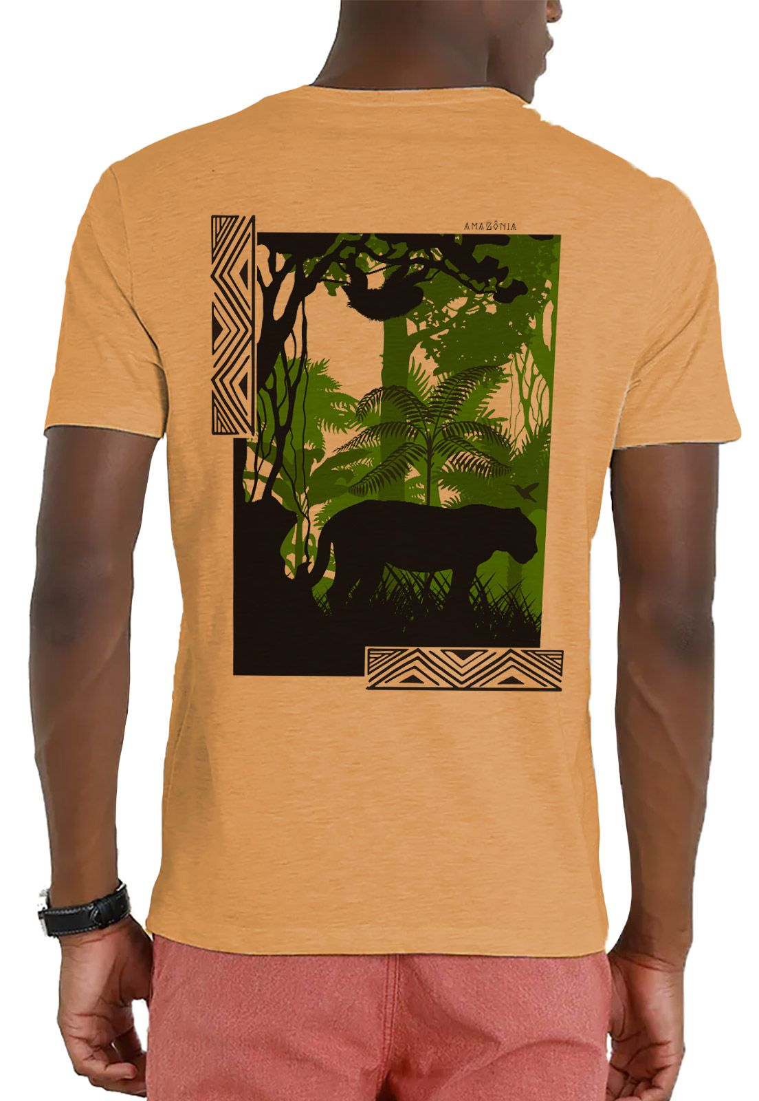 Camiseta Amazônia Garrafa Pet Inside The Jungle - Amarelo