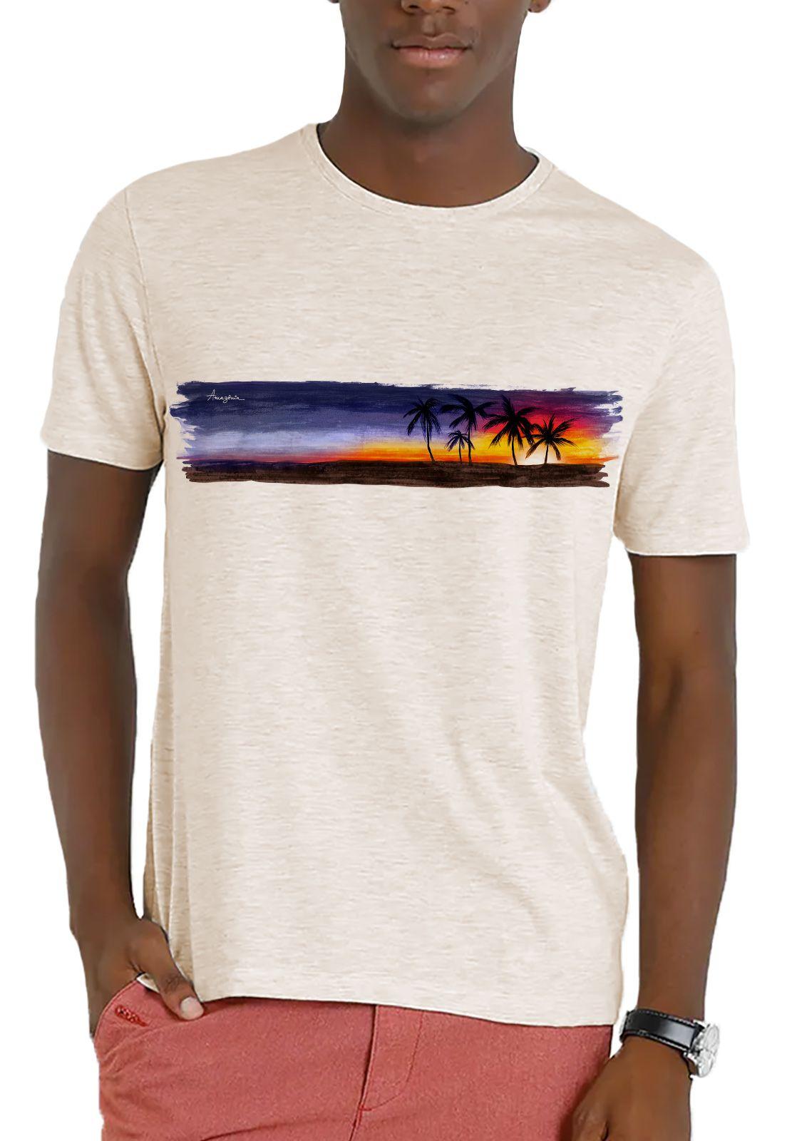 Camiseta Amazônia Garrafa Pet Sunset Bahia - Off White