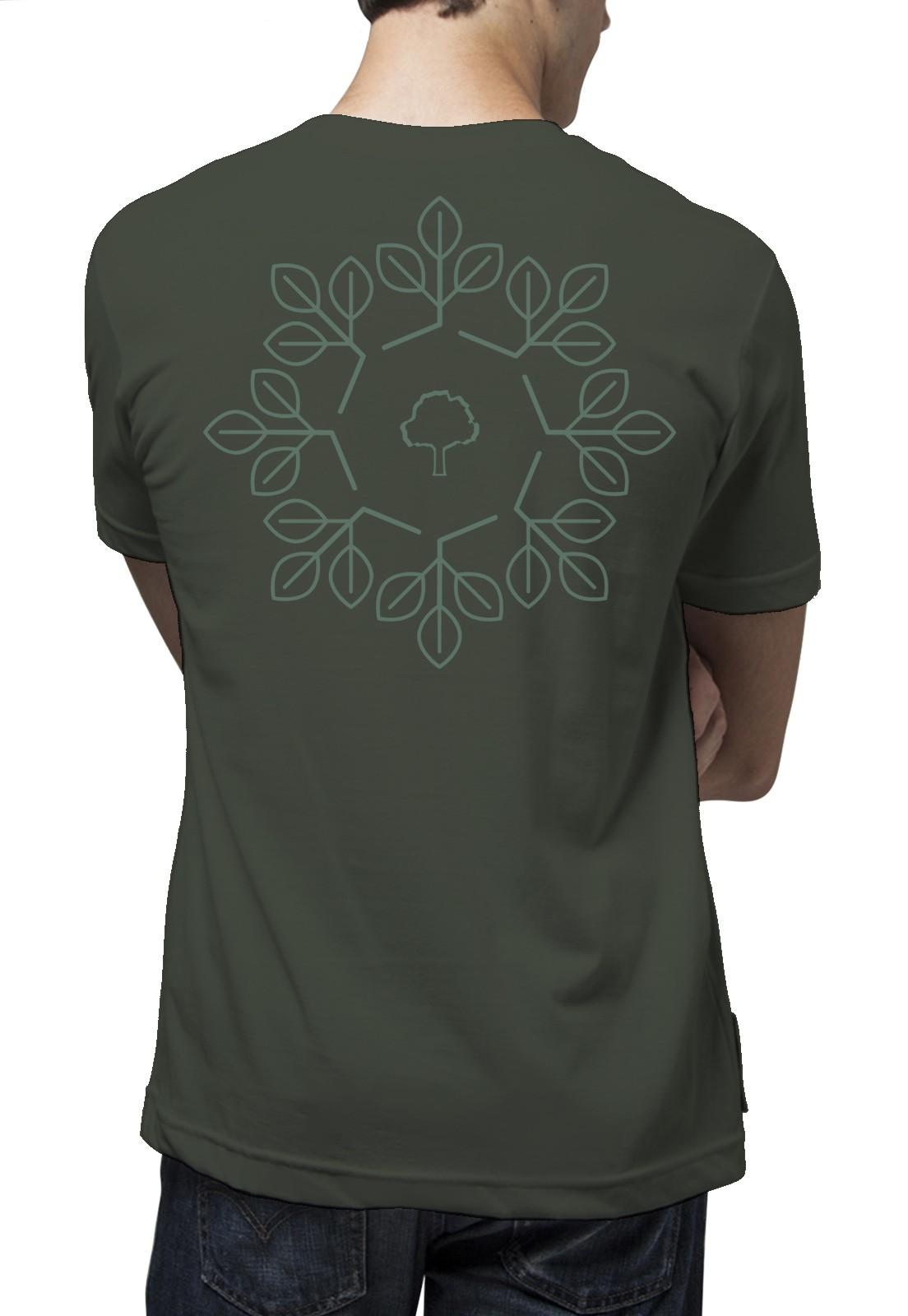 Camiseta Amazônia Geometria - Verde Escuro