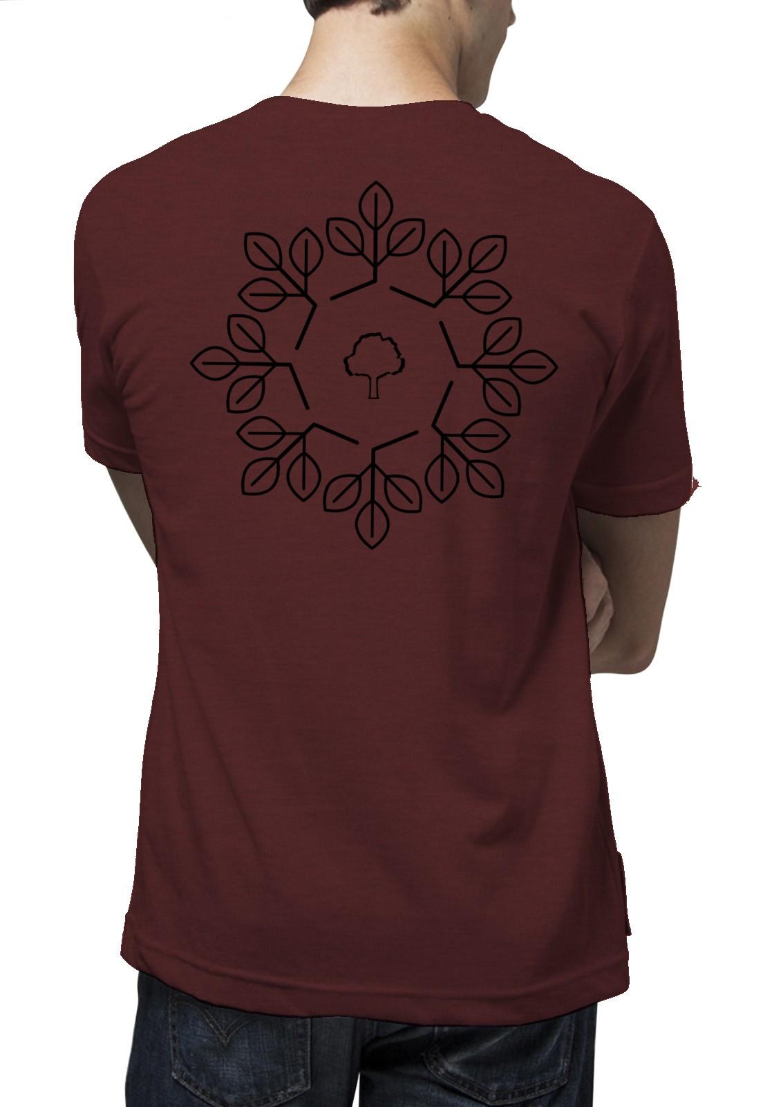 Camiseta Amazônia Geometria - Vermelho Mescla