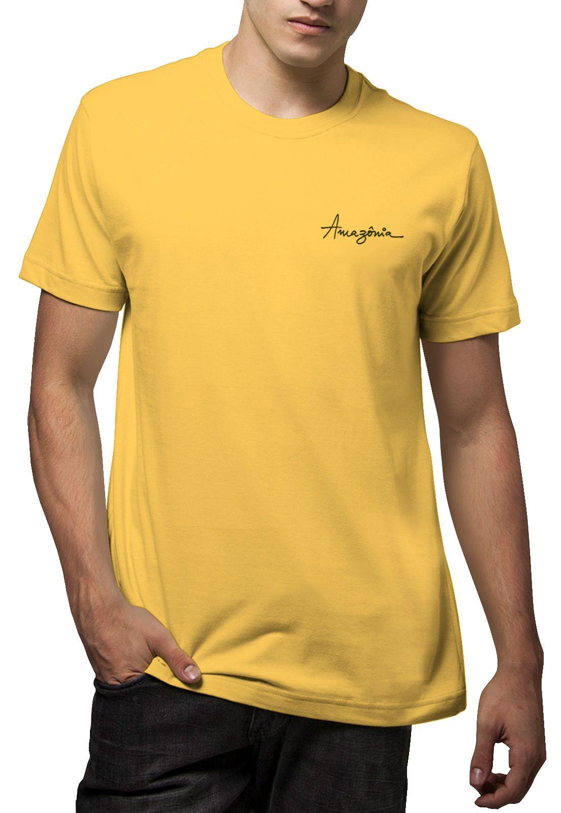 Camiseta Amazônia Girassol - Amarelo
