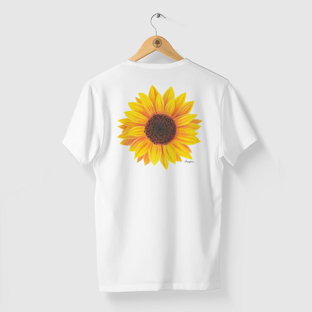 Camiseta Amazônia Girassol - Branco
