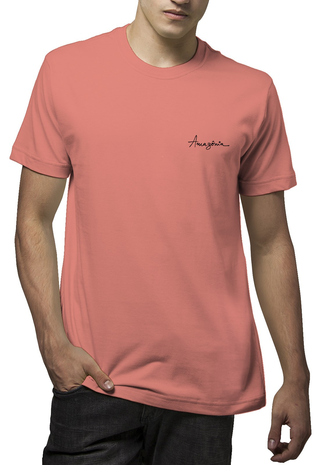 Camiseta Amazônia Girassol - Salmão