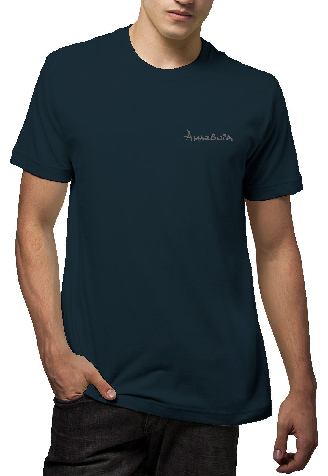 Camiseta Amazônia Gota Árvore - Azul Escuro