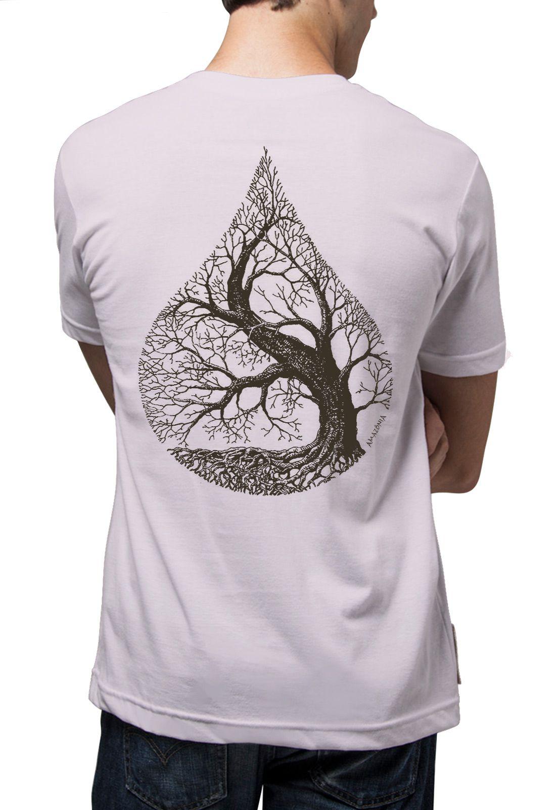 Camiseta Amazônia Gota Árvore - Lilás