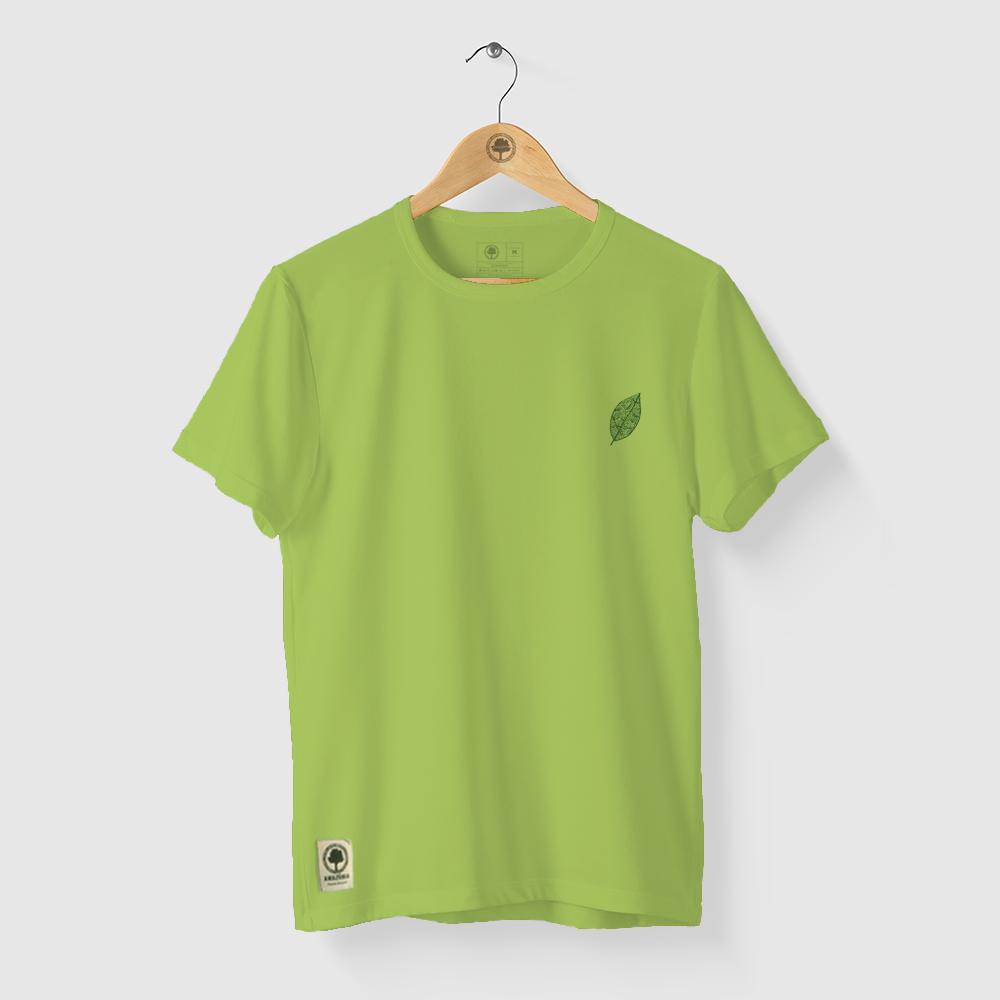 Camiseta Amazônia GRAFISMO FOLHA - VERDE