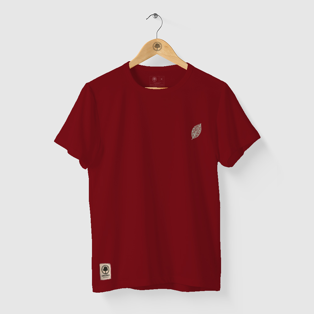 Camiseta Amazônia GRAFISMO FOLHA - VINHO