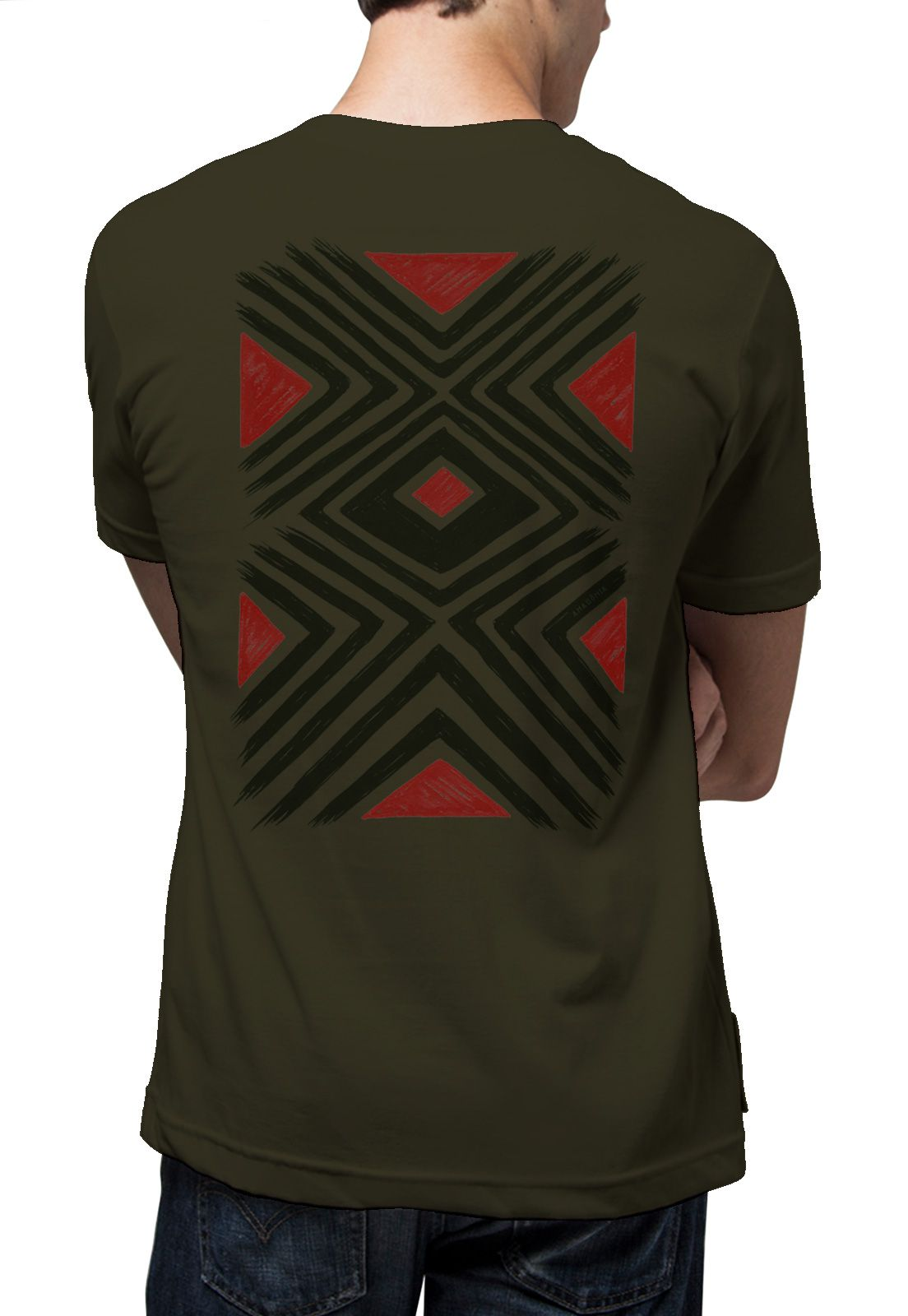 Camiseta Amazônia Grafismo - Verde Escuro