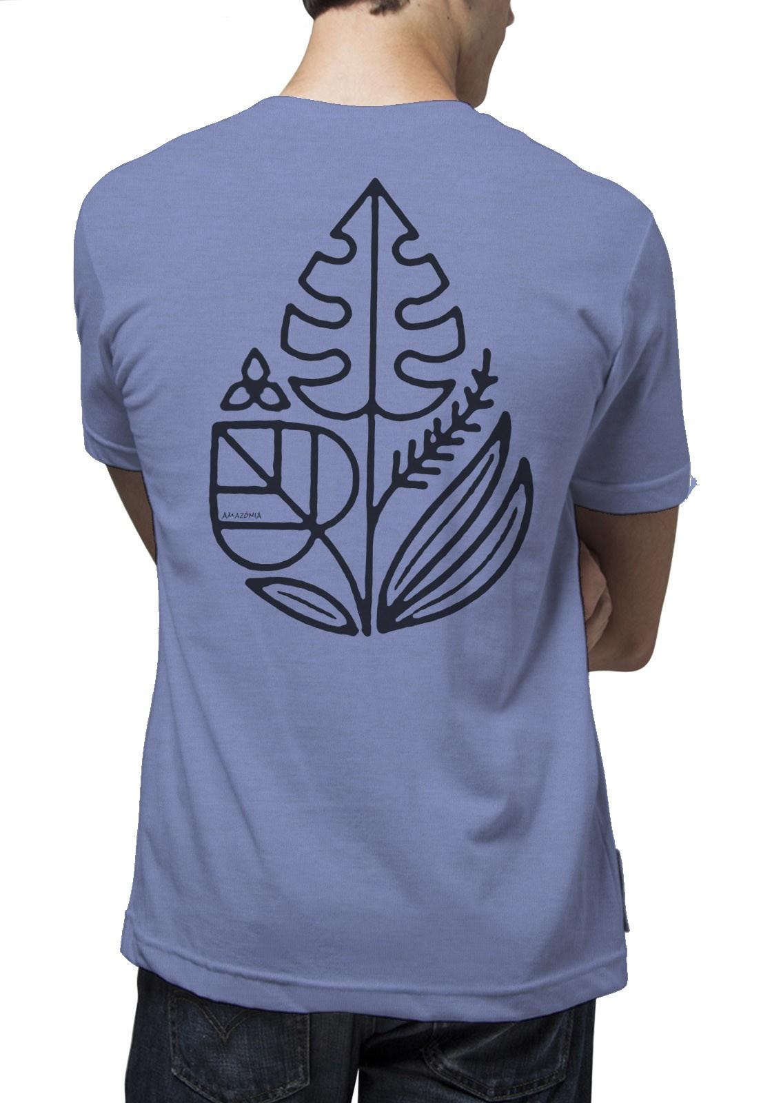 Camiseta Amazônia Green is Life - Mescla Lilás