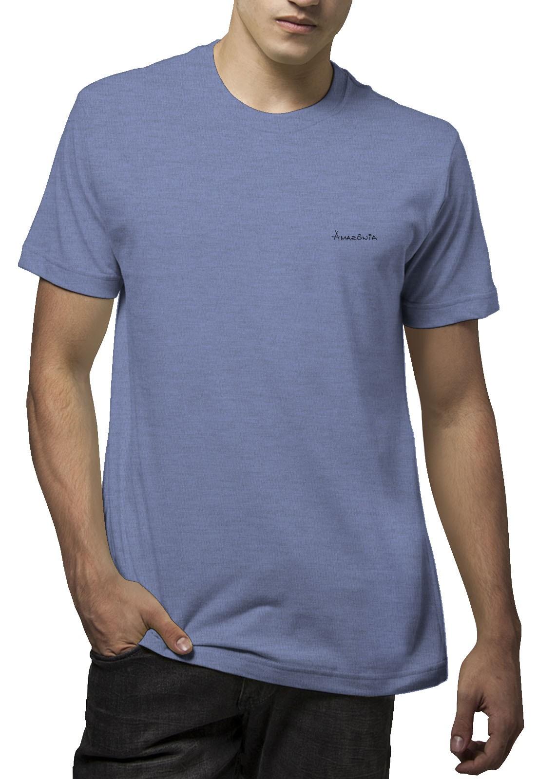 Camiseta Amazônia Green is Life - Mescla Azul