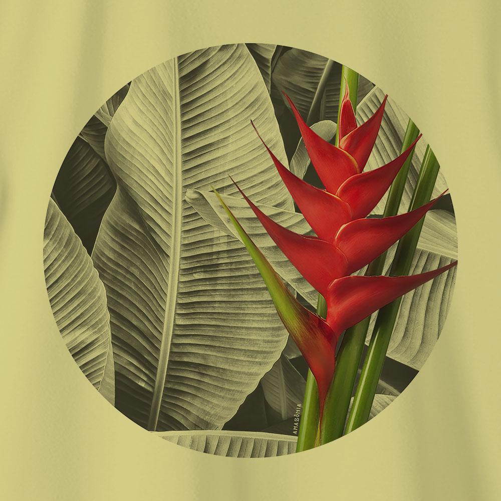 Camiseta Amazônia HELICÔNIA - AMARELO CLARO