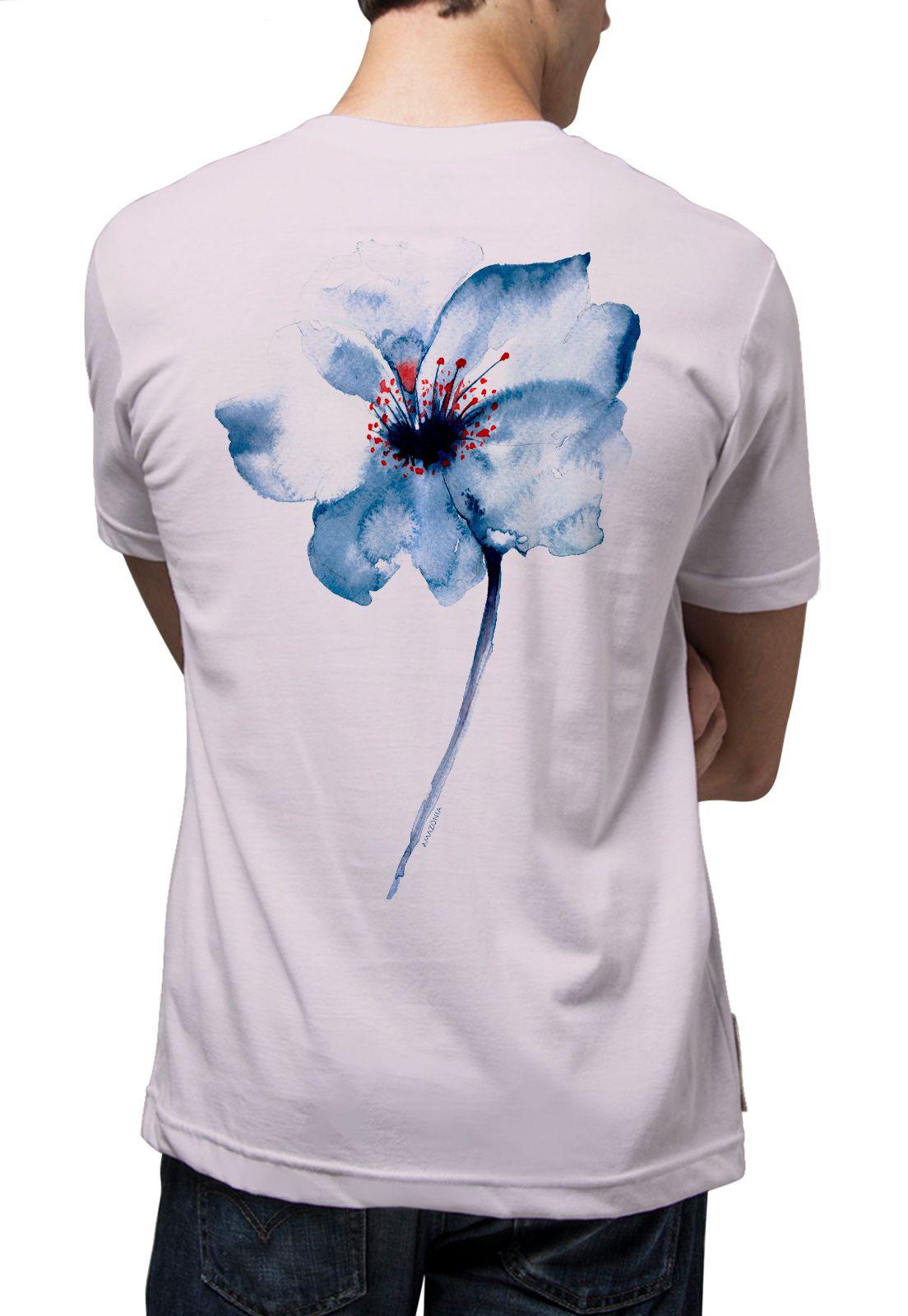 Camiseta Amazônia Hibisco - Lilás