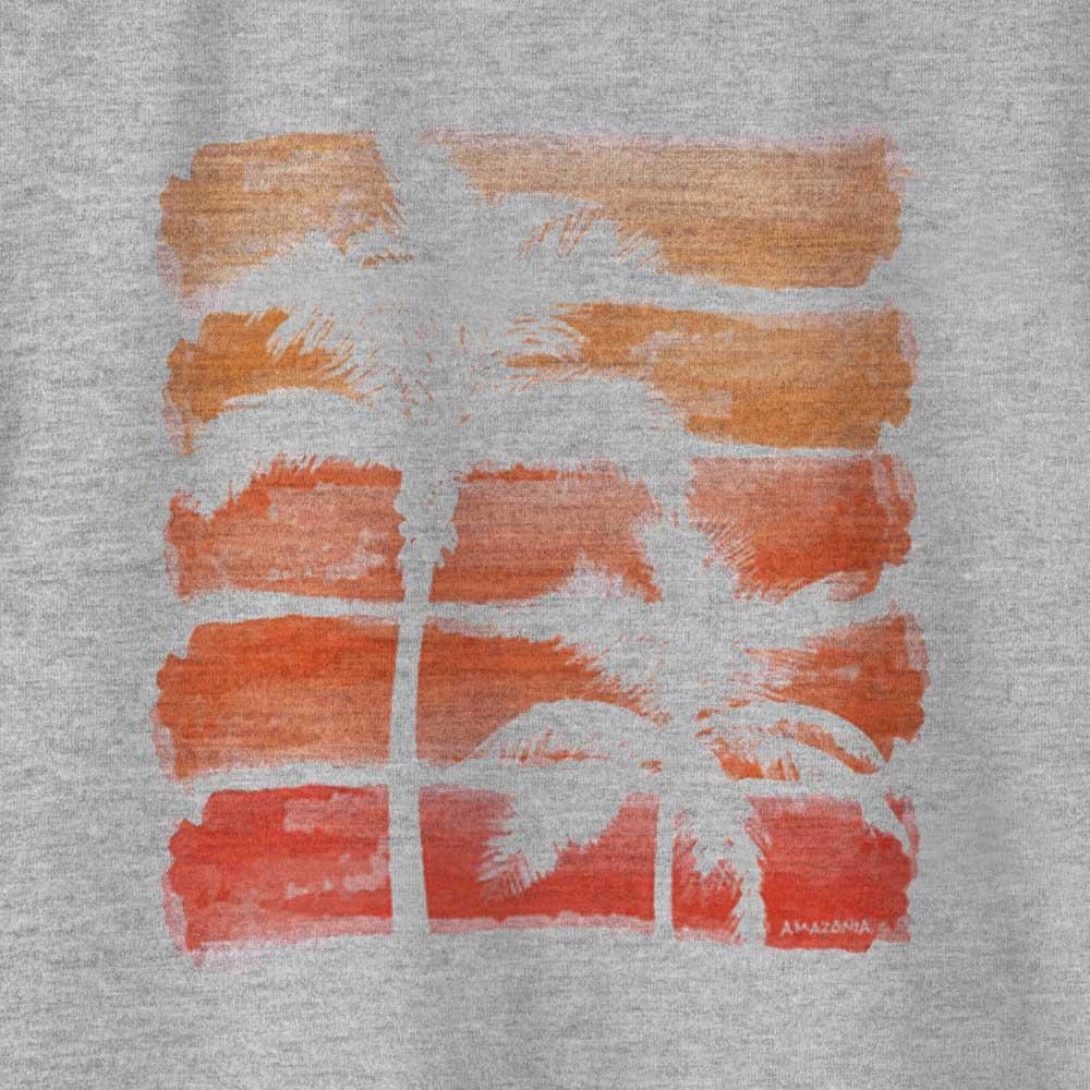 Camiseta Amazônia ILHA DE MARAJÓ - MESCLA CINZA