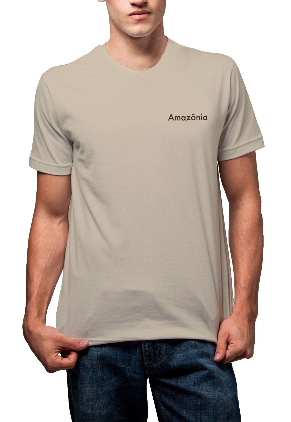 Camiseta Amazônia Índio Arco e Flecha - Bege