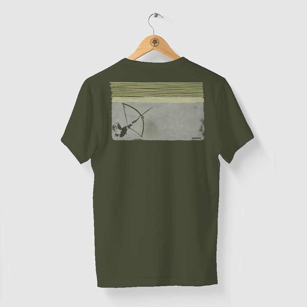 Camiseta Amazônia ÍNDIO ARCO E FLECHA - VERDE
