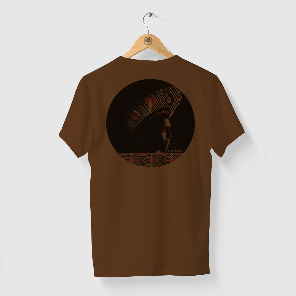 Camiseta Amazônia ÍNDIO GRAFISMO - MARROM