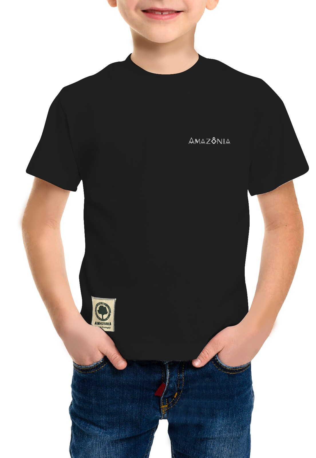 Camiseta Amazônia Infantil Flechas - Preto