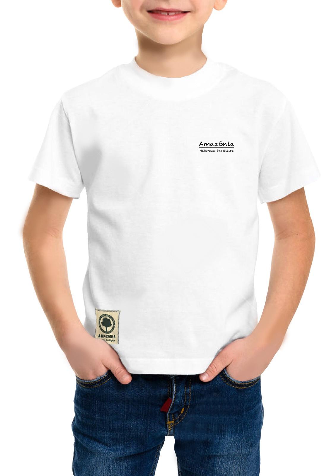 Camiseta Amazônia Infantil On Off - Branco