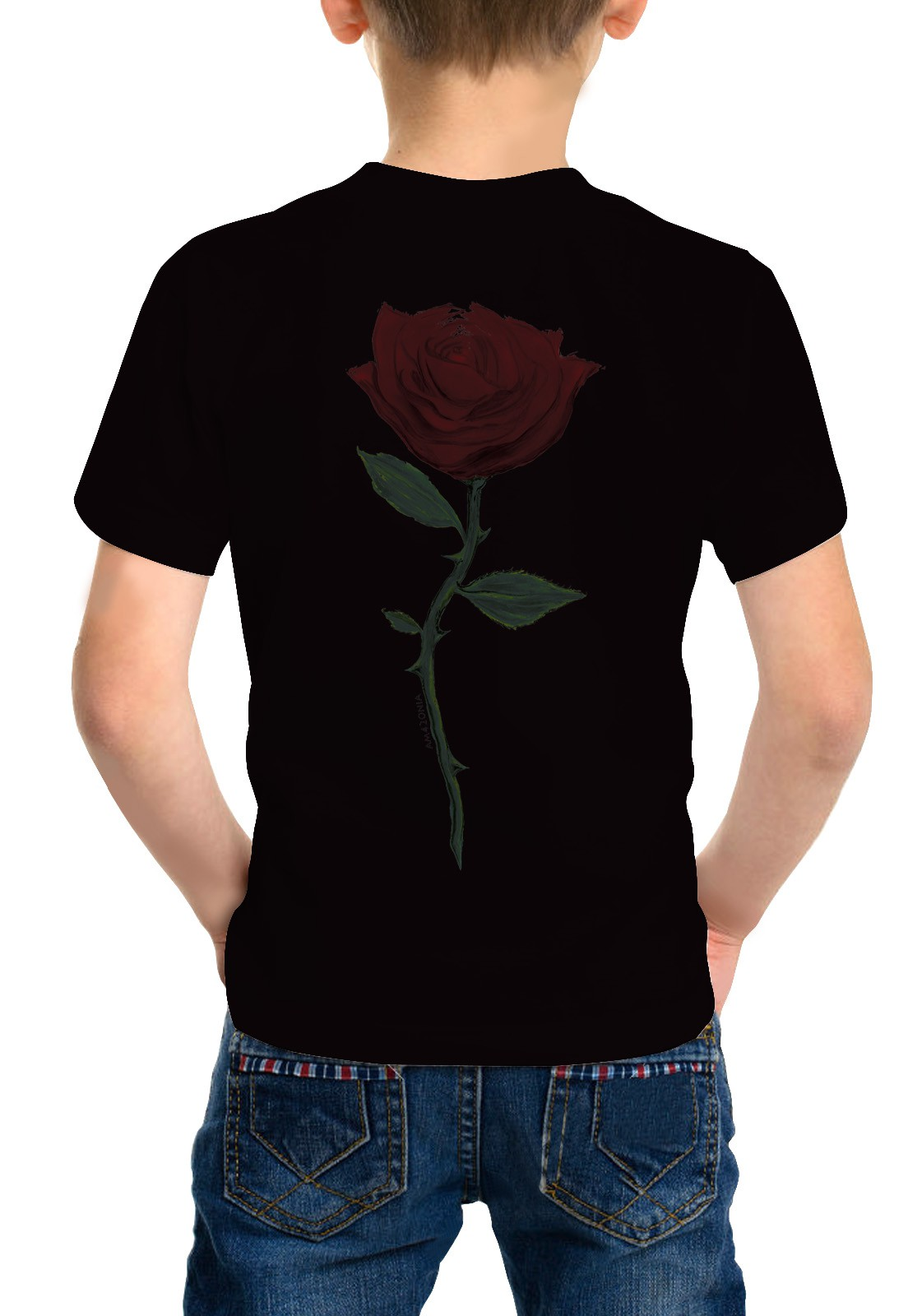Camiseta Amazônia Infantil Rosa - Preto