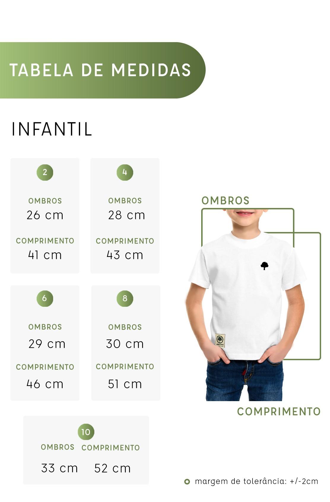 Camiseta Amazônia Infantil Sobrefolhas - Preto