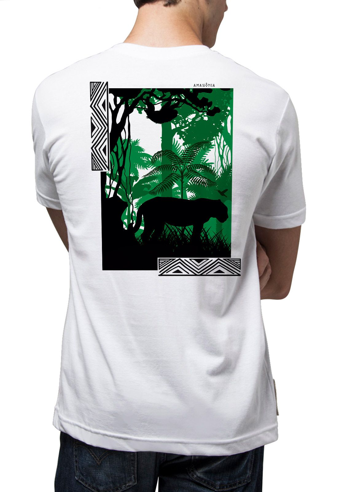 Camiseta Amazônia Inside the Jungle - Branco