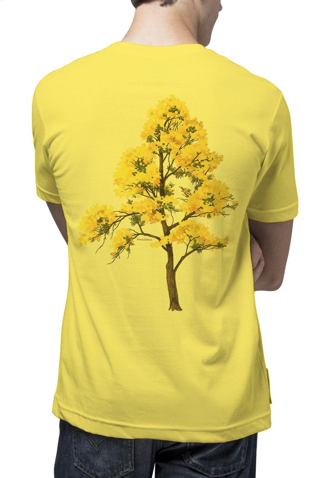 Camiseta Amazônia Ipê Amarelo - Amarelo