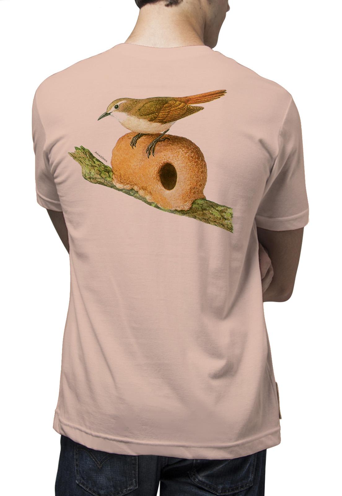 Camiseta Amazônia João de Barro - Salmão