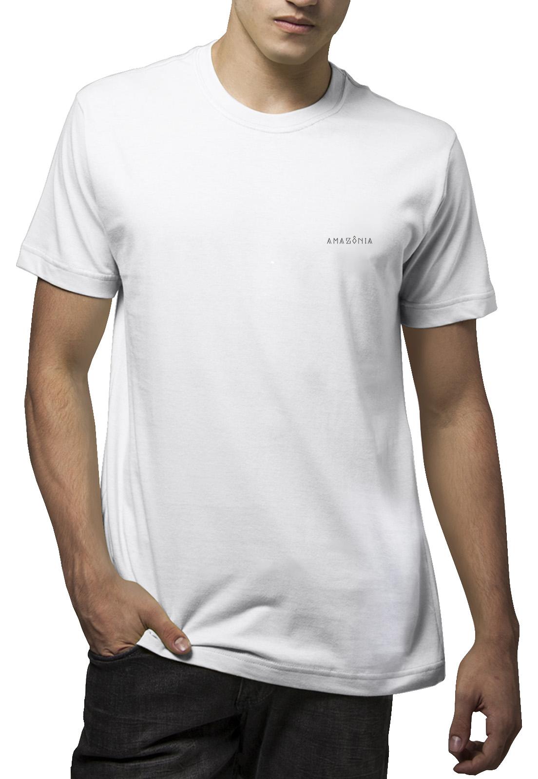 Camiseta Amazônia Kayapó Cocar - Branco