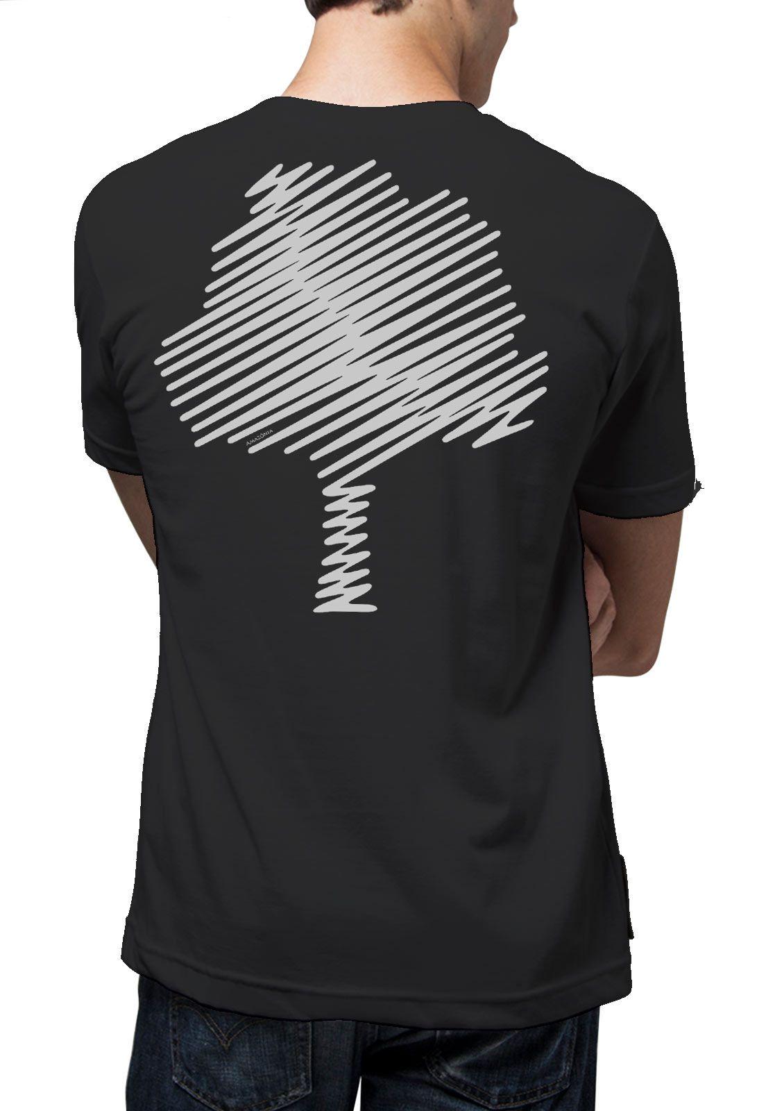 Camiseta Amazônia Lápis Logo - Preto