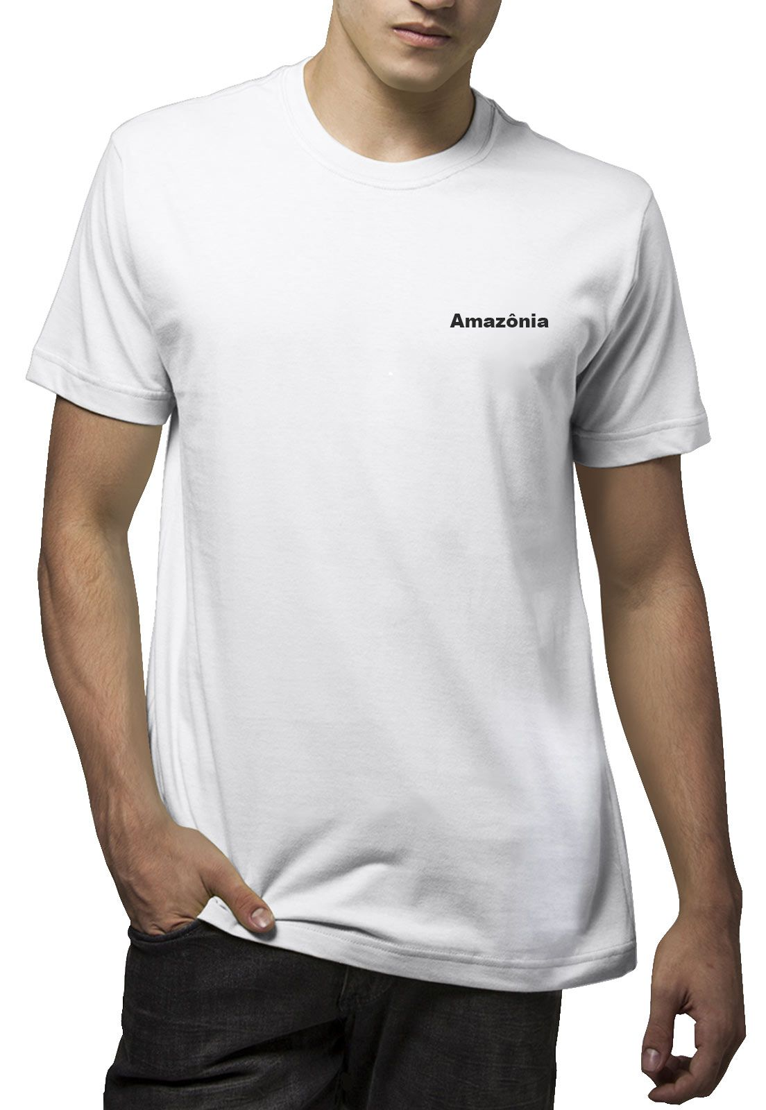 Camiseta Amazônia Leão Logo - Branco
