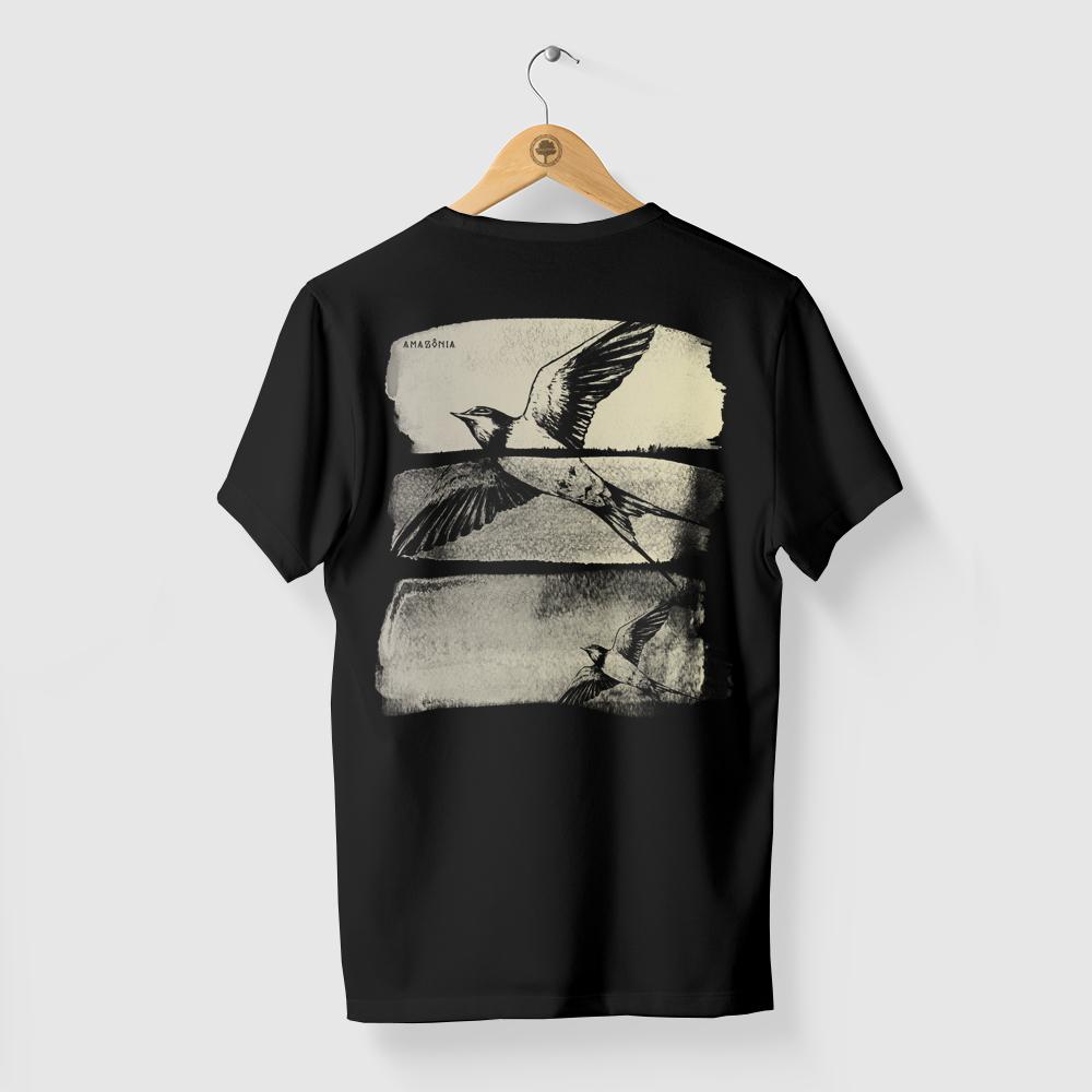 Camiseta Amazônia LIBERDADE - PRETO