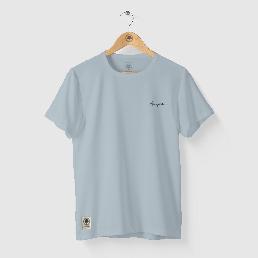 Camiseta Amazônia Linhas Naturais - Azul Claro
