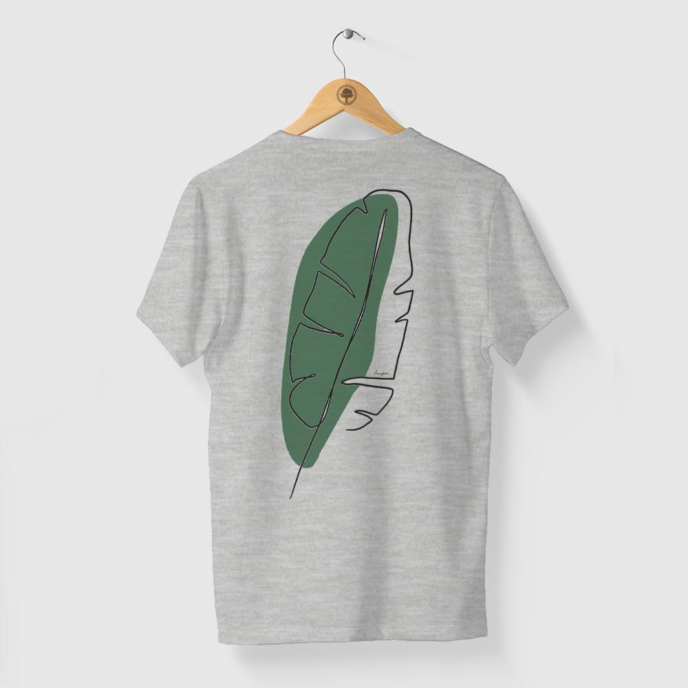 Camiseta Amazônia Linhas Naturais - Mescla Claro
