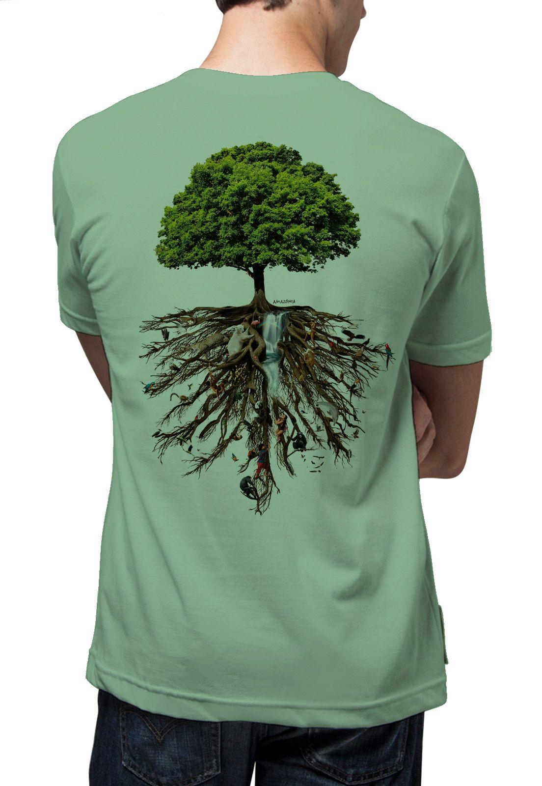 Camiseta Amazônia Linhotex Árvore da Vida - Verde