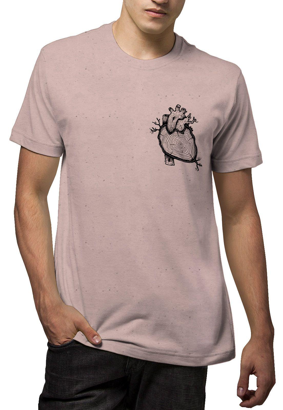 Camiseta Amazônia Linhotex Coração da Amazônia - Rosa