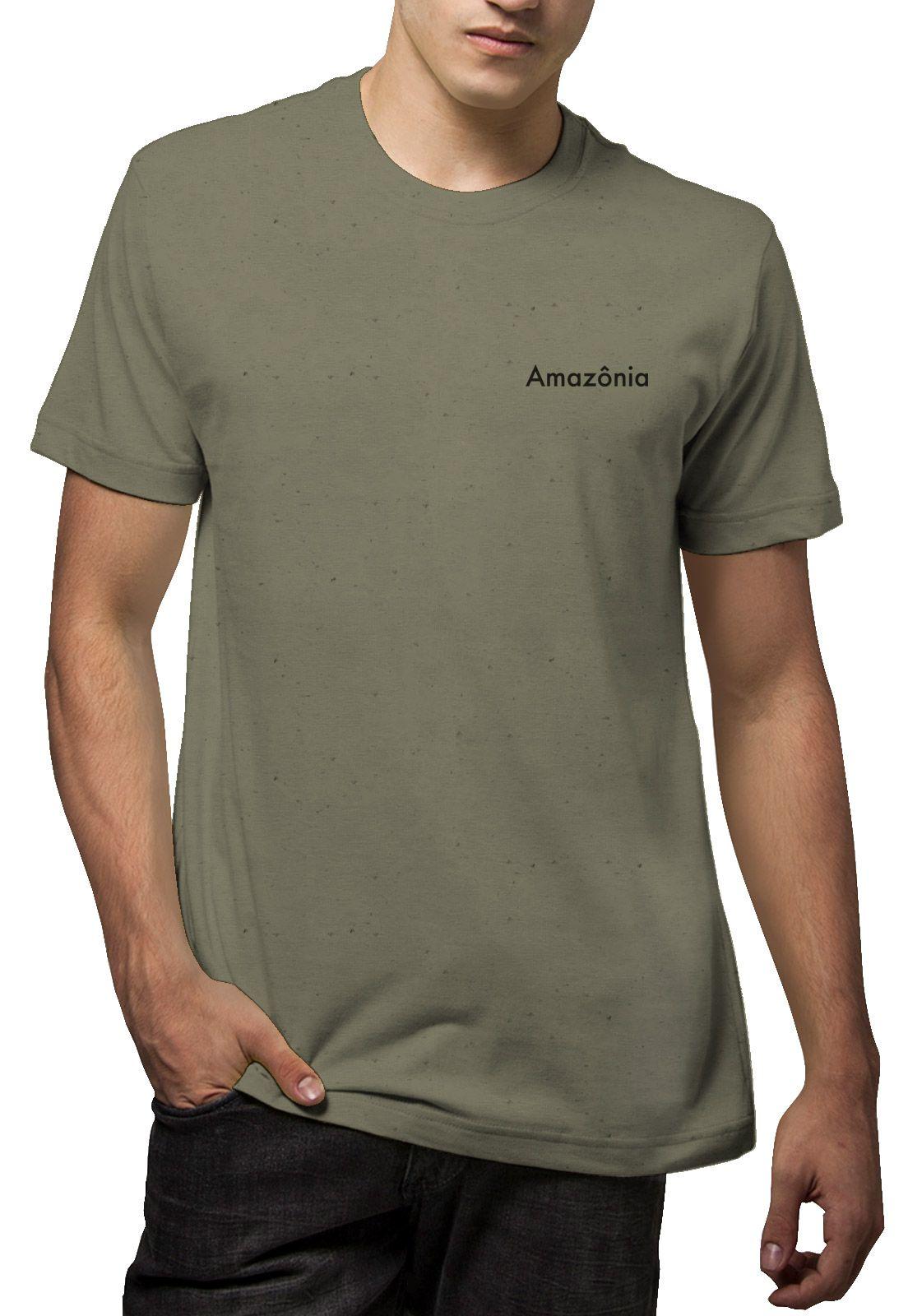 Camiseta Amazônia Linhotex Folha - Verde Escuro