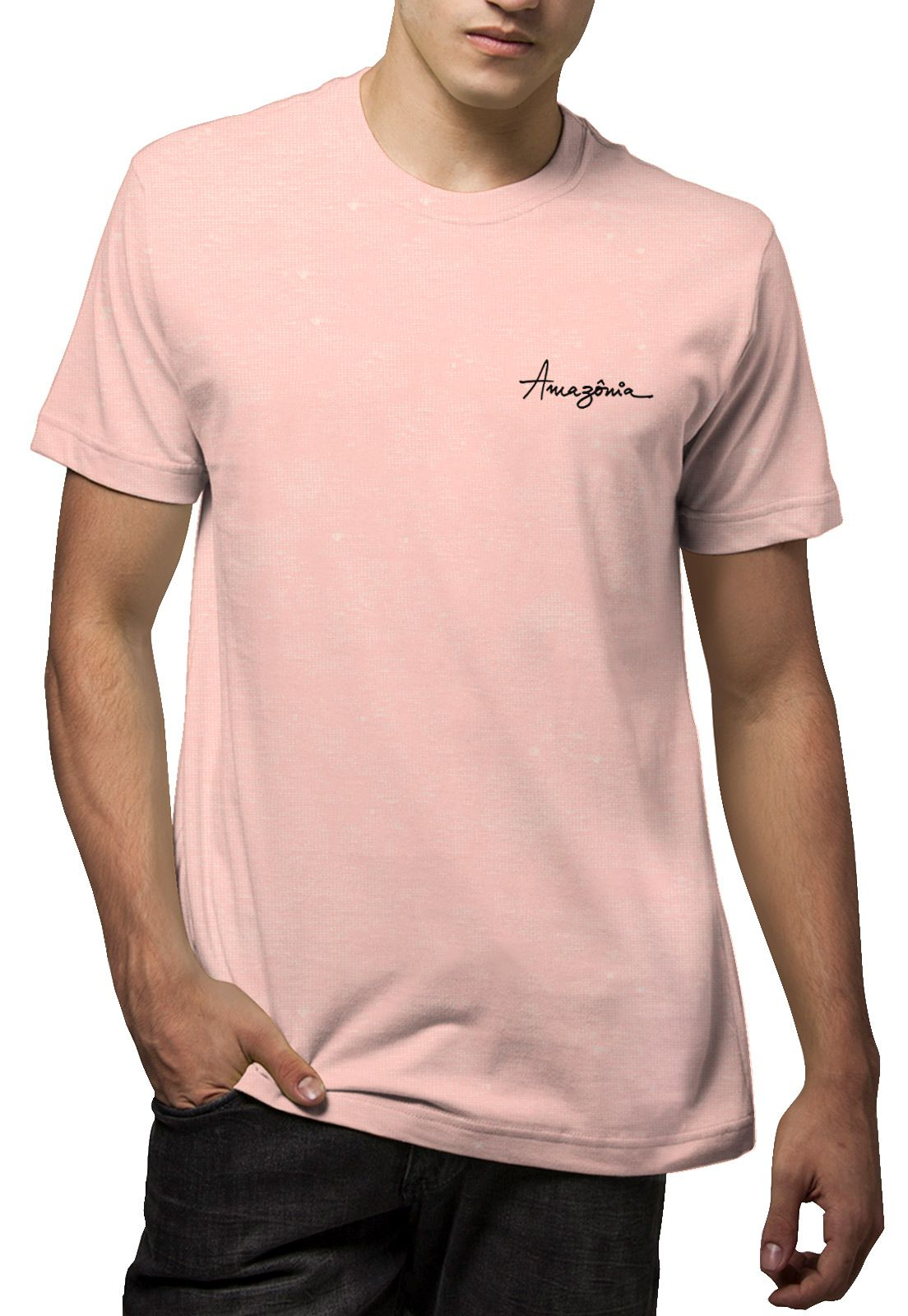 Camiseta Amazônia Linhotex Macaw  - Rosa
