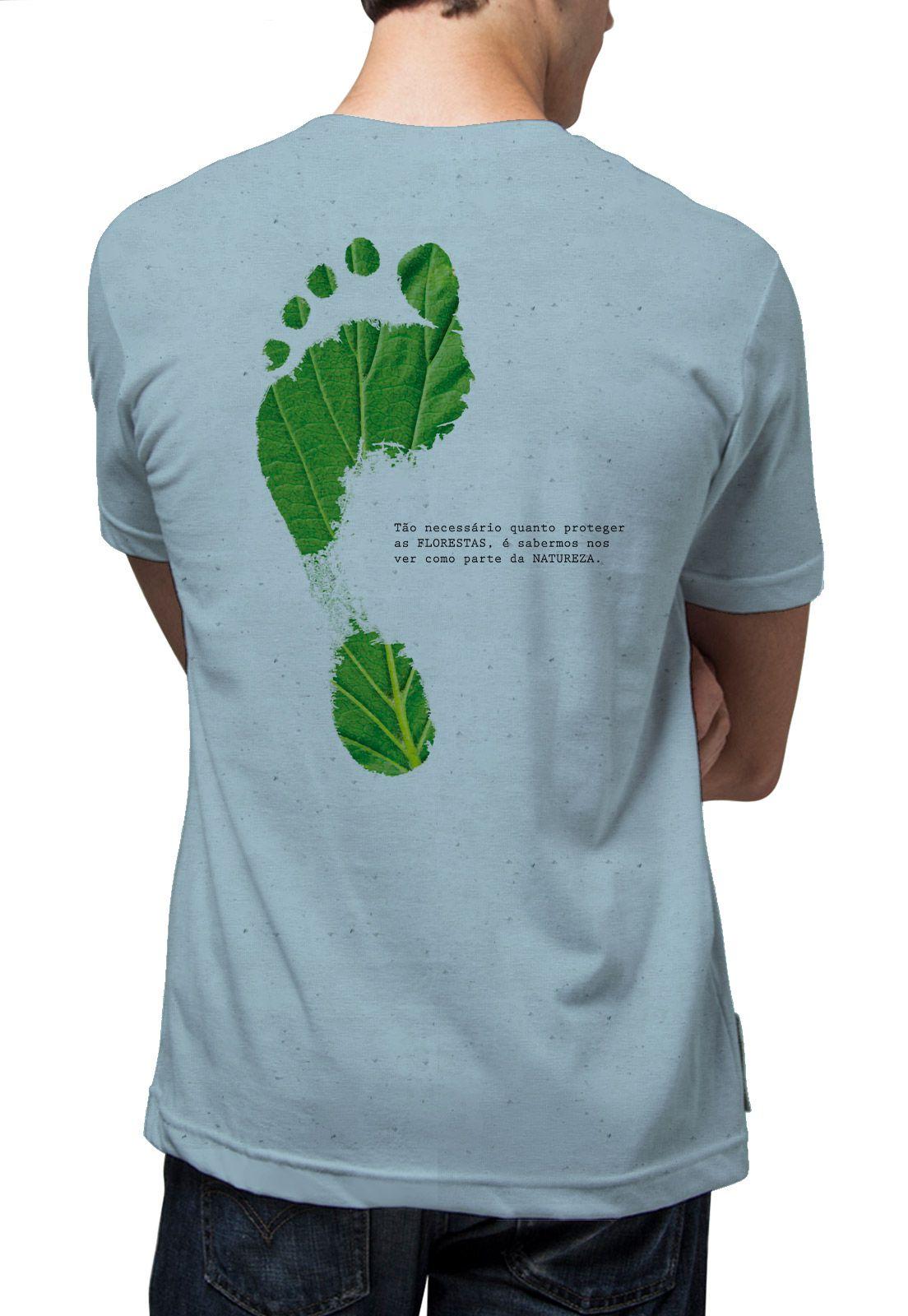 Camiseta Amazônia Linhotex Pegada Ecológica - Azul