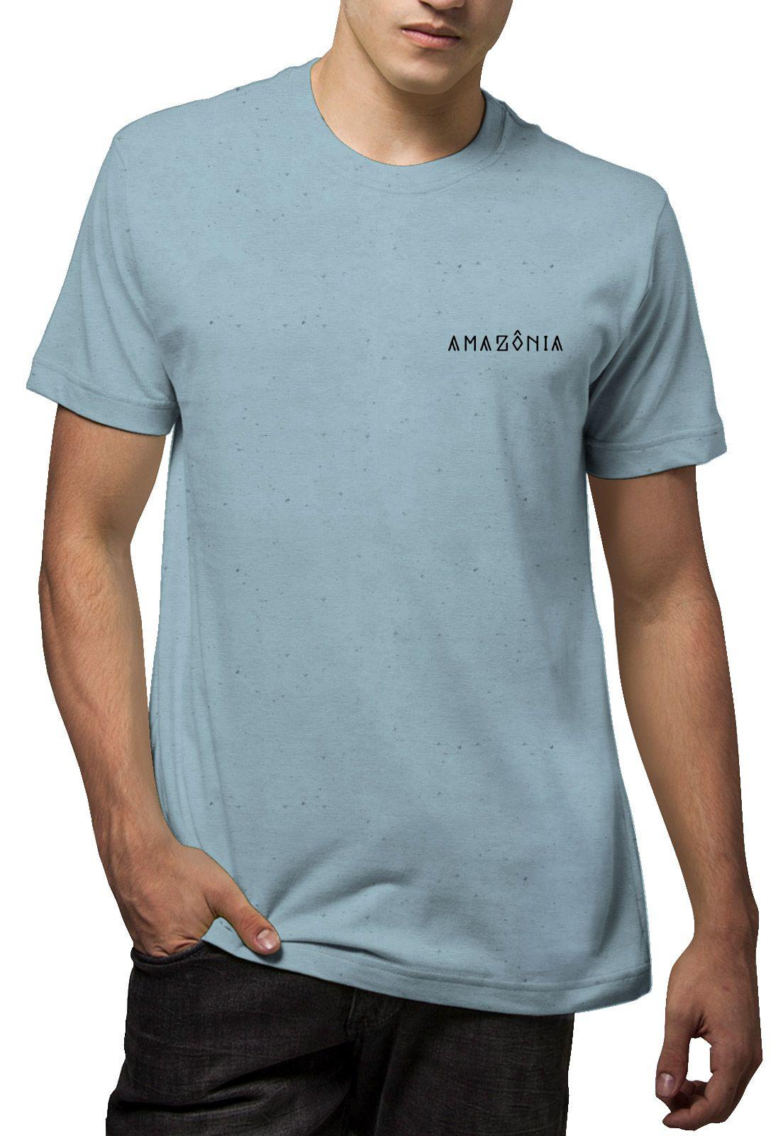Camiseta Amazônia Linhotex Tucum - Azul