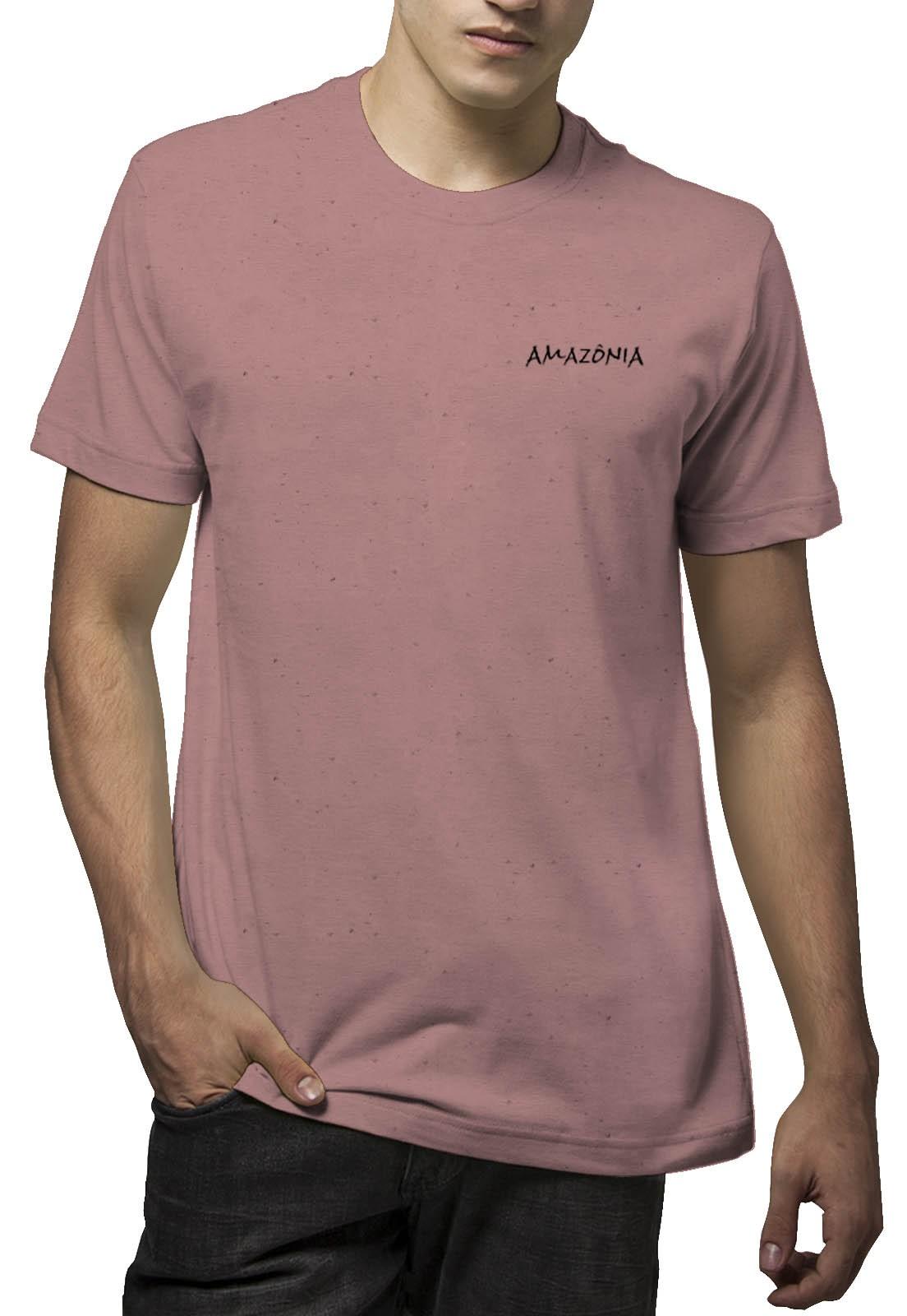 Camiseta Amazônia Linhotex Yakwa - Rosa