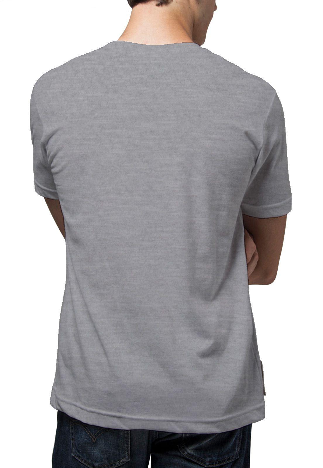 Camiseta Amazônia Listras de Tinta - Mescla