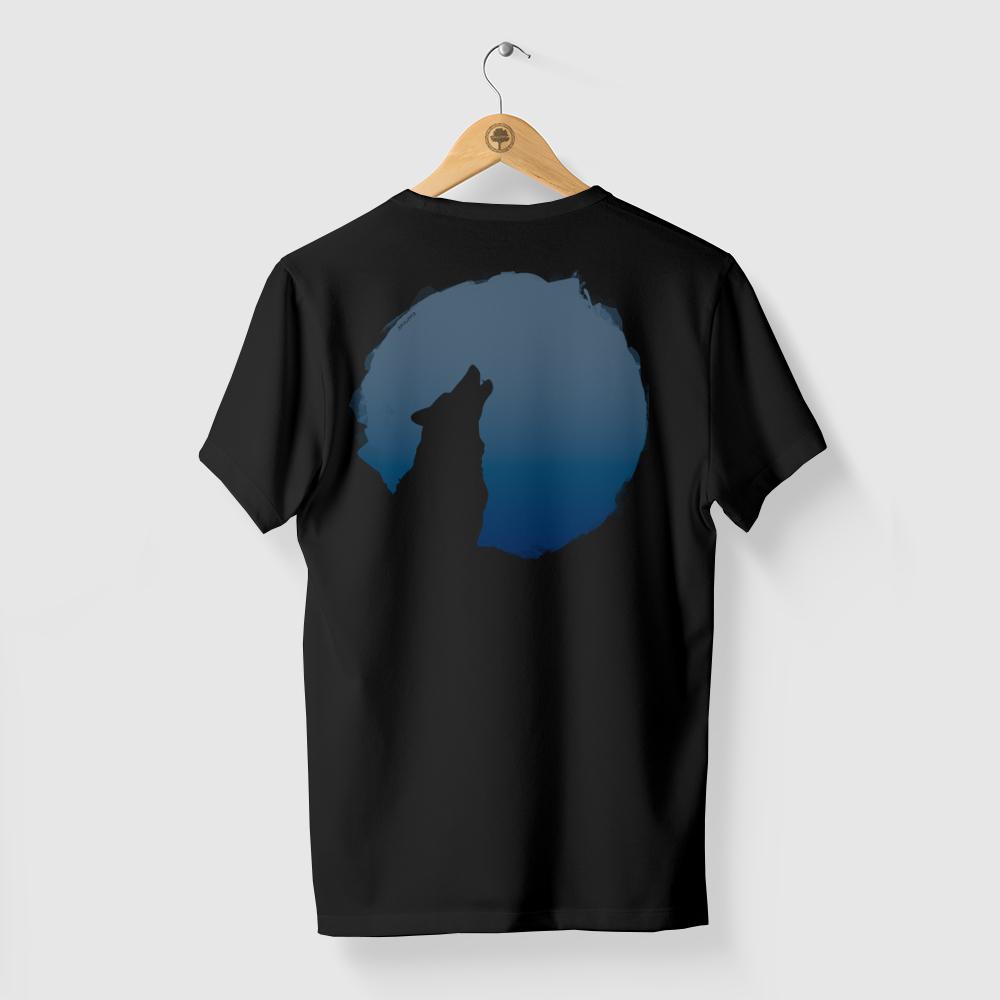 Camiseta Amazônia LOBO LUA - PRETO