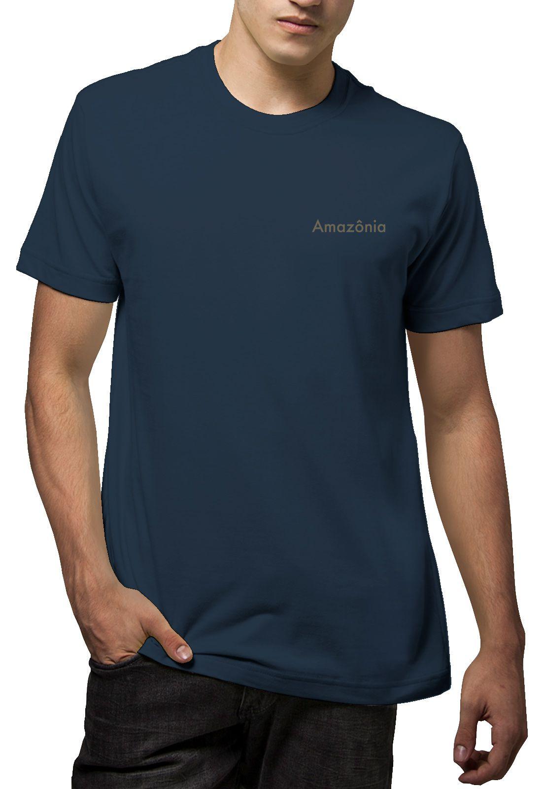 Camiseta Amazônia Logo Oficial - Azul Escuro