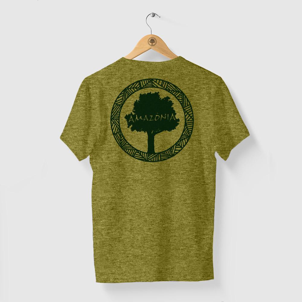 Camiseta Amazônia LOGO OFICIAL - MESCLA AMARELO
