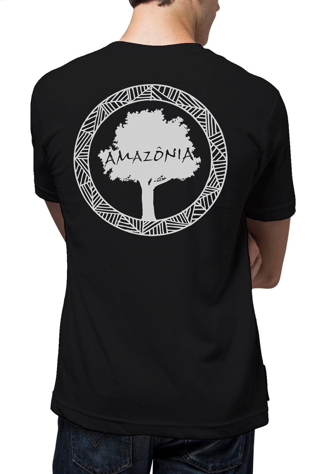 Camiseta Amazônia Logo Oficial - Preto