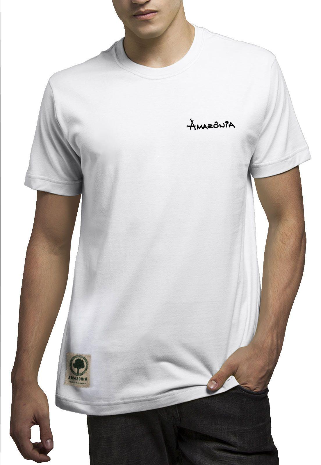Camiseta Amazônia Logo Praia - Branco