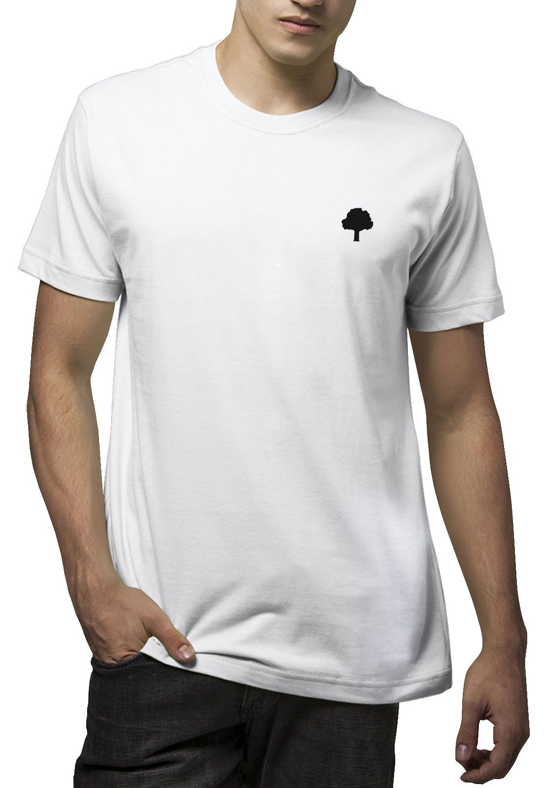 Camiseta Amazônia Logo Rasta - Branco