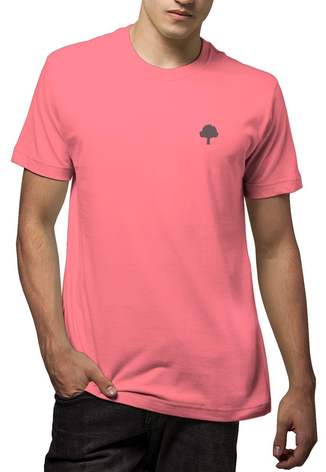 Camiseta Amazônia Logo Terra - Rosa
