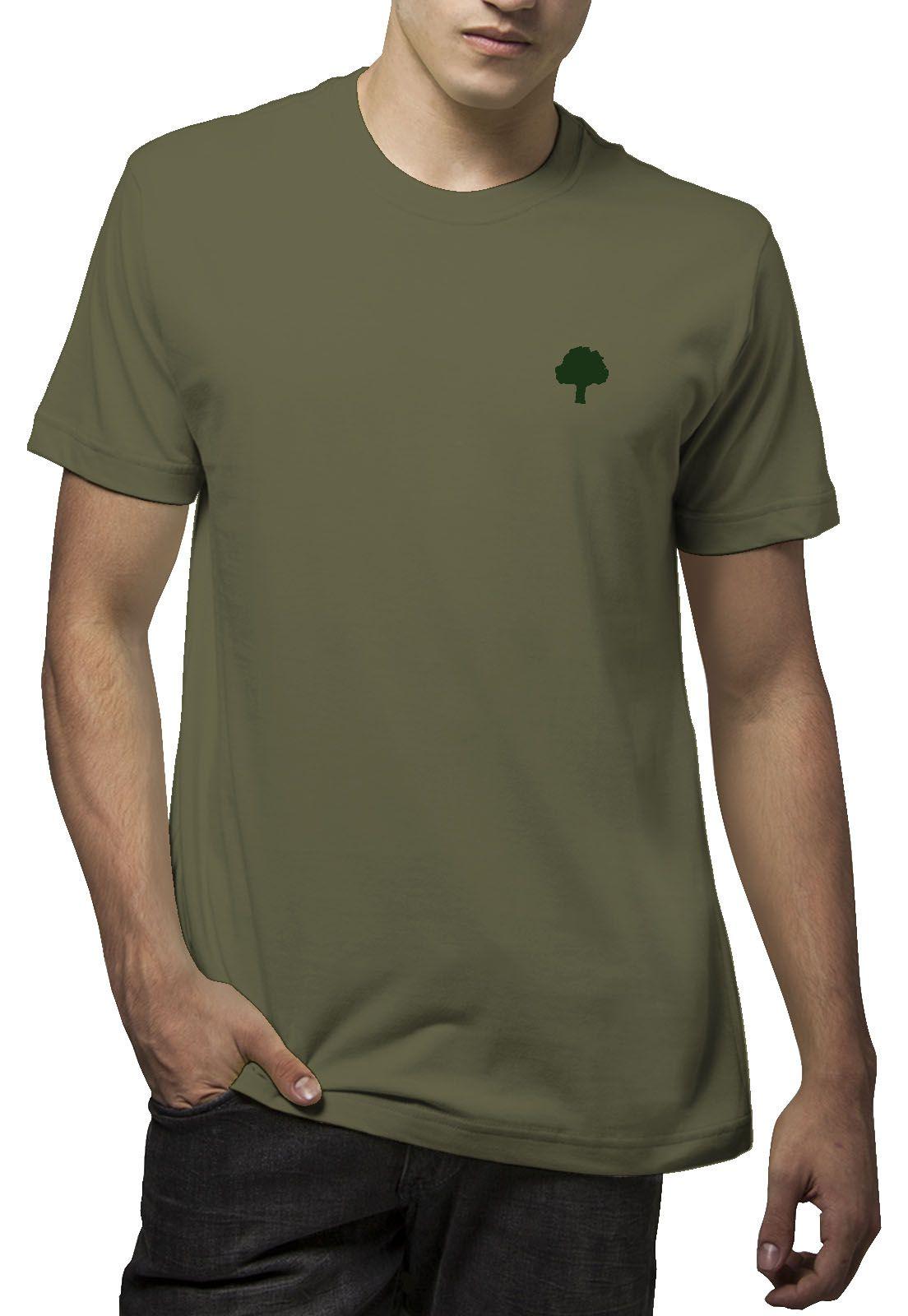 Camiseta Amazônia Logo Terra - Verde Escuro
